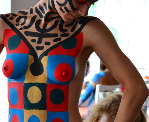 body painting working in progress