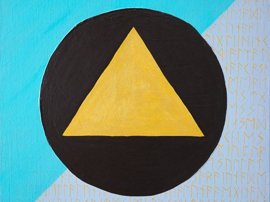 gold triangle - acrylic on canvas - 45x45 -2016