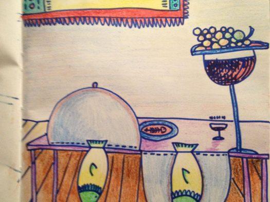 la cena é servita a HH - pencil on paper - A4
