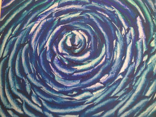 a rose -acrylic on canvas - 100x100 - 2010